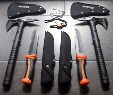*6er Bear-Knife Set* 2x Tomahawk Axt M48 +2 Outdoor Messer + Fire Starter + Card