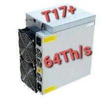 Antminer T17+ 58Th/s ASIC Bitcoin Miner SHA-256 BTC Inc. PSU