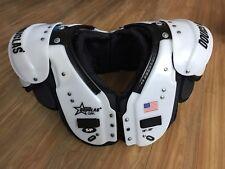 Douglas Pro SP QBL Adult Football Shoulder Pads L $460 Made In USA White Black