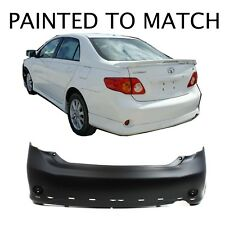 Painted to Match - 2009 2010 Toyota Corolla S type Rear BumperTO1100265
