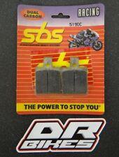 Moto Guzzi V35 350 Gt 1990 SBS Doble Carbono Pastillas de Freno Frontales 519DC