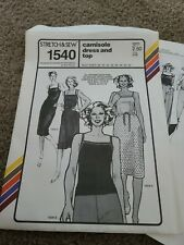 Uncut Stretch & Sew Women's Camisole Dress, Top Pattern 1540, 1970s Ann Person