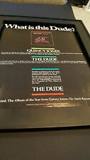 Quincy Jones The Dude Rare Original Promo Poster Ad Framed!