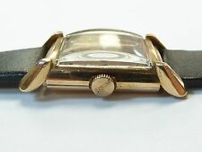 Vintage Men's Bulova 14k Solid Rose Gold 21Jewels 7AK Watch Copper Colored Dial