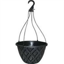 Southern Patio 077003 12in.Dynamic Design Pot Lattice Hanging Basket SilverBrush