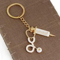 1*Needle Medical Box Charm Keychain Key Ring Doctor Nurse Keyring Gift Key CNIU