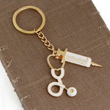 1*Needle Medical Box Charm Keychain Key Ring Doctor Nurse Keyring Gift Key CRGU