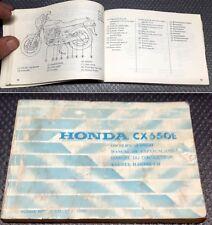 HONDA CX650e Libretto uso e manutenzione