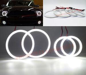 LED halo rings for Ford Mustang Shelby GT500 07-09 car headlight fog light lamp