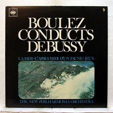 PIERRE BOULEZ - DEBUSSY la mer, preludes, jeux CBS LP EX