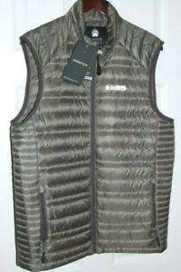 men's alaskan hardgear aniak down vest w/ pertex shell DWR treated gray medium