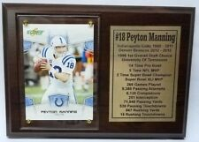 Indianapolis Colts Peyton Manning Football Card Plaque