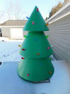 Rare Holiday Hues Blowmold Christmas Tree