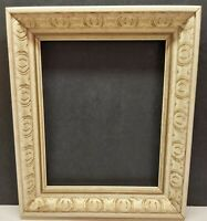8X10 Vintage Wood Ornate Baroque Off White Gold Accent Picture Frame