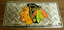 Chicago Blackhawks S NHL Hockey Metal Raised Commemorative License Plate
