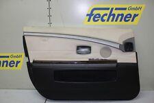 Türverkleidung Türpappe Vorne Links BMW 7er E65 E66 Leder weiß/beige Schalter FH