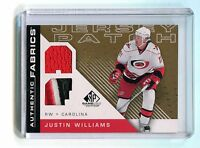 2007-08 SP Game Used Authentic Fabrics #AF-JW Justin Williams Jersey jh11