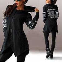 Casual Women Long Sleeve Hoodie Sweater Sweatshirt Hooded Coat Pullover Tops XL
