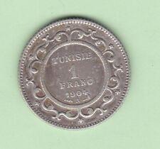 Tunisia1 franc 1904 very rare date!