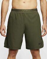 Nike Pro Flex Vent Max Training Shorts Dark Olive Green Rep Gym CJ1957 Large
