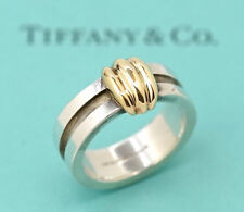 TIFFANY&Co Atlas Ring size 56 US 7.5 18K Gold & Silver 925 v1743