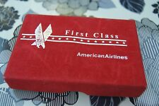 American Airlines First Class Playing Cards Red Logo Sealed Original Box 1960s