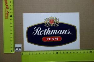 Alter Aufkleber Zigaretten Motorsport ROTHMANS TEAM