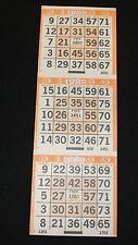 BINGO PAPER Card 3 on Orange Large Frame pattern 200 sheets FREE SHIPPING