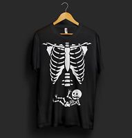 Maternity Baby Skeleton T Shirt Halloween Costume Baby Pregnant Baby Shower