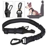 3-in-1 Pet Dog Car Seat Belt Adjustable w/Elastic Bungee Restraint Safety Lead