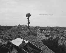 """Monument to a Dead American Soldier Normandy Shore D-Day 8""""x 10"""" WWII Photo #219"""
