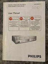 2006 Philips DVD VCR User Manual #DVP3345V/17
