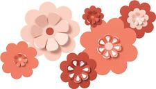 "Quickutz/Lifestyle Crafts CC-SHAPE-6-017   ""Nesting Flowers"" 6 Dies"