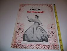 """1951 BROADWAY PLAYBILL - THE KING AND I - GERTRUDE LAWRENCE YUL BRYNNER 12"""" x 9"""""""