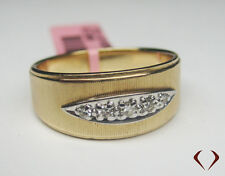 0.10CT Round Old Mine Cut Diamond Ring 14K Yellow Gold