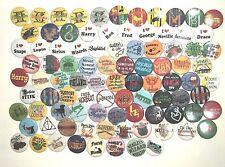 Harry Potter Buttons- Lot #1 SUPREME LOT 93 pins!