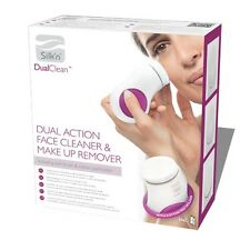 Silk'n Dual Clean Face Brush & MakeUp Remover 2 in 1 Face Cleanser Cotton Pads