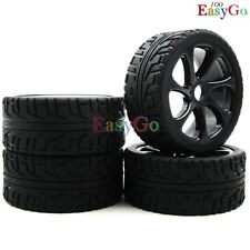4pcs new 1:8 RC On Road Buggy Soft Tires w/ Hex 17mm Wheels for HPI XTR Car Part