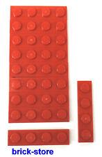 LEGO / 1x4 Plaque rouge / 10-pc
