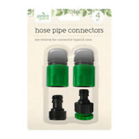 4pc Garden Hose Pipe Tap Connector Conection Set Fitting Adaptor