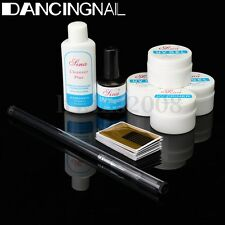 KIT UV Gel Ongle Extension Finition Construction Manucure Nettoyage Nail Art