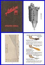 Allison Aircraft Engine Operators Manual on CD