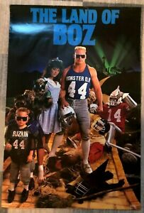 "1987 Brian Bosworth ""Land of Boz"" Costacos Brothers Vintage Poster ex condition"