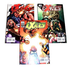 Marvel Comics X Men related EXILES 3 issue lot, wolverine, sabretooth, blink