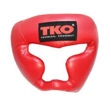 TKO Boxing Head Guard Adult Red