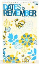Dates to Remember Metal Spiral Book Perpetual Calendar