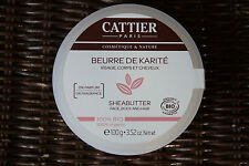 Beurre de Karité 100% Bio, soin visage, corps et cheveux, 100g – CATTIER