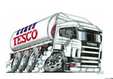 Koolart - Tesco Fuel Lorry / Truck - Mousemat - Personalised With Name - 1508