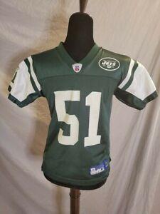 NFL New York Jets Reebok Jonathan Vilma Green Jersey Size YM