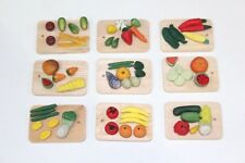 Dolls House Accessories 9 X Chopping Boards With Different Food 1/12th Scale
